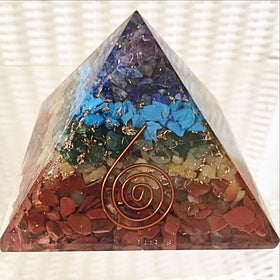 Orgonite Chakra pyramid - new earth gifts