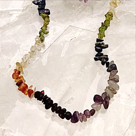 Chakra Necklace 36 Inches - Gem Chips - New Earth Gifts