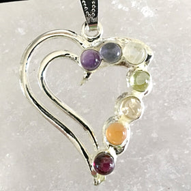 Chakra Double Heart Pendant | New Earth Gifts