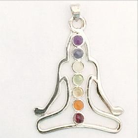 Chakra Meditation  Pendant - Om Figure-New Earth Gifts