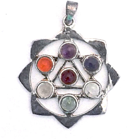 Chakra Lotus Pendant - New Earth Gifts