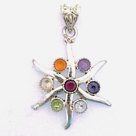 Starfish Chakra Gemstone Pendant - New Earth Gifts