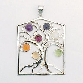 Tree of Life Chakra Gemstone Pendant - New Earth Gifts