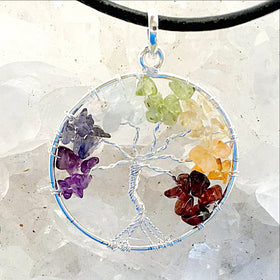 Chakra Tree of Life Pendant - New Earth Gifts