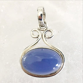 Chalcedony Sterling Silver Pendant | New Earth Gifts