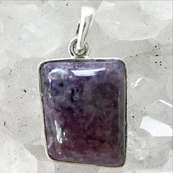 Sterling Silver Charoite Free Form Pendant - New Earth Gifts
