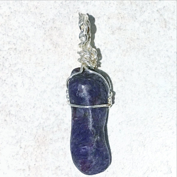 Charoite Wire Wrap Pendant - New Earth Gifts