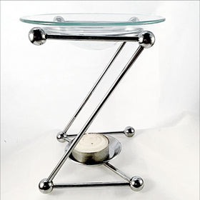 Oil Burner Chrome Abstract Z Style - New Earth Gifts