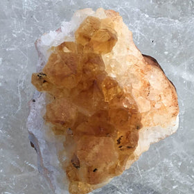 Citrine Druzy Cluster With Sunny-Colored Crystals For Sale New Earth Gifts