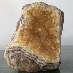 Citrine Druze Cut Base Great Prices - New Earth Gifts