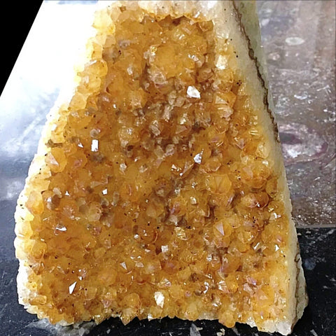 Citrine Druse Cut Base Quality Specimen - New Earth Gifts