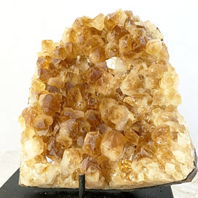 Citrine Druzy Cluster With Several Nugget-Shape Crystals For Sale New Earth Gifts