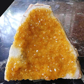Citrine Druse Cut Base Feng Shui Crystal for Home Decor - New Earth Gifts