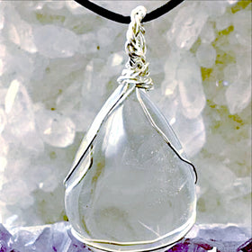 Clear Quartz Crystal Healing Pendant - Healing Crystal For Sale New Earth Gifts