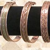 Copper Bangle Bracelets - Several Styles for Magnet Therapy - New Earth Gifts