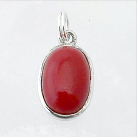 Sterling Red Coral Pendant - New Earth Gifts and Beads