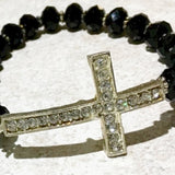Black Cross Beaded Bracelet - New Earth Gifts