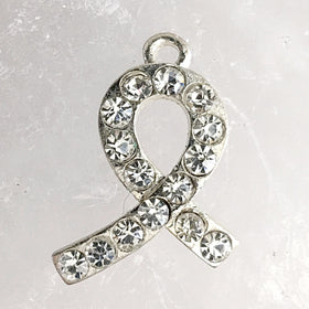 Lung Cancer Awareness Charm - White Ribbon | New Earth Gifts