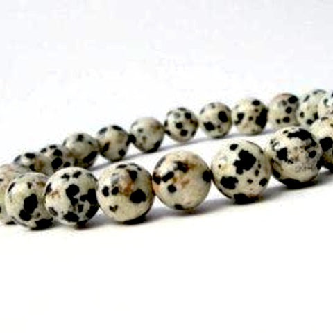 Dalmatian Jasper Power Bracelet for Nurturing and Inner Child Work-10mm - New Earth Gifts