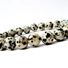 Dalmatian Jasper Power Bracelet for Nurturing and Inner Child Work-8mm