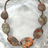 Desert Jasper Southwest Style Necklace with Copper Accents - New Earth Gifts