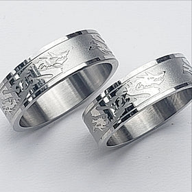 Stainless Steel Ring Six Dragons - New Earth Gifts
