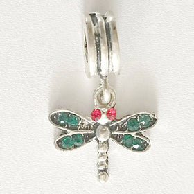 Dragonfly Large Hole Dangle Charm | New Earth Gifts