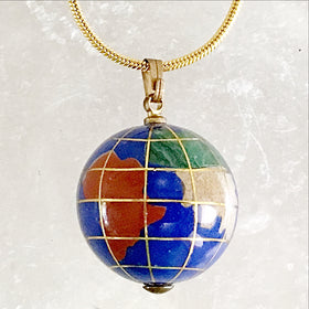 Gemstone Globe Pendant | New Earth Gifts