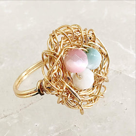 Birds Nest Ring | New Earth Gifts
