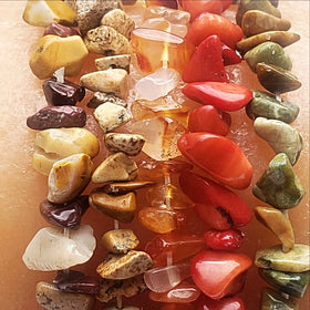 Gemstone Chip Bracelets-Fall Colors - New Earth Gifts