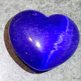 Blue Fiber Optic Hearts - Cats Eye Mini Hearts, 30mm - New Earth Gifts