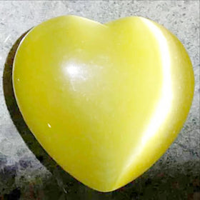 Bright Yellow Fiber Optic Hearts - 45mm | New Earth Gifts