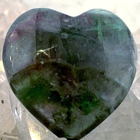Fluorite Mini Heart - Gemstone Pocket Heart, Valentine Gift - New Earth Gifts and Beads