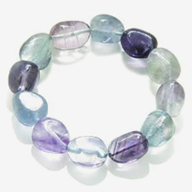 Fluorite Tumbled Stone Stretch Bracelet - New Earth Gifts