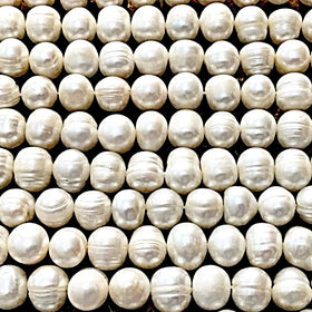 Freshwater Pearls-10mm Semi Round Pearls | New Earth Gifts