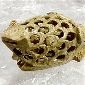 Frog Figurine Carved in Soapstone | New Earth Gifts
