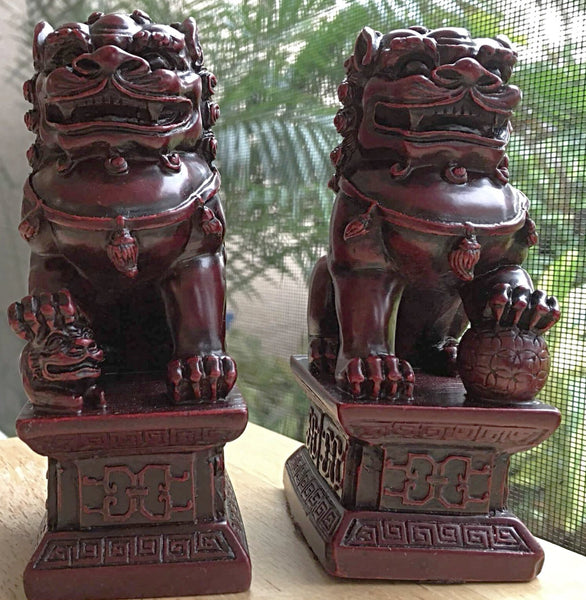 Fu Dogs Pair - Guardian Lions - New Earth Gifts