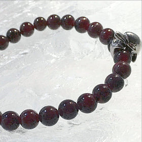 Garnet Bracelet with Dolphin Charm - New Earth Gifts