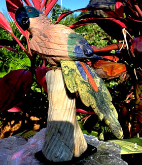 Gemstone Bird Carvings - Parrot (Peruvian) For Sale New Earth Gifts