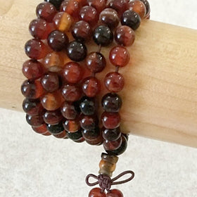 Gemstone Mala Beads of Carnelian | New Earth Gifts