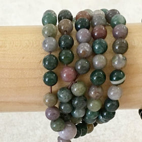 Gemstone Mala Beads of Fancy Jasper - New Earth Gifts