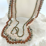 Rose Quartz Hand Knotted Long Necklace | New Earth Gift
