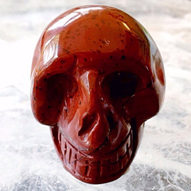 Gemstone Brecciated Jasper Skull 40mm - New Earth Gifts
