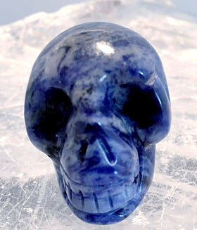 Gemstone Sodalite Skull 40mm - New Earth Gifts