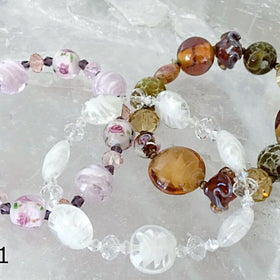 Crystal and Glass Bracelet Set of 3 - New Earth Gifts and Beads