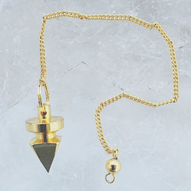 Pyramidal Pendulum Gold Plated - New Earth Gifts