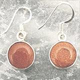 Sterling Goldstone Dangle Earrings - New Earth Gifts