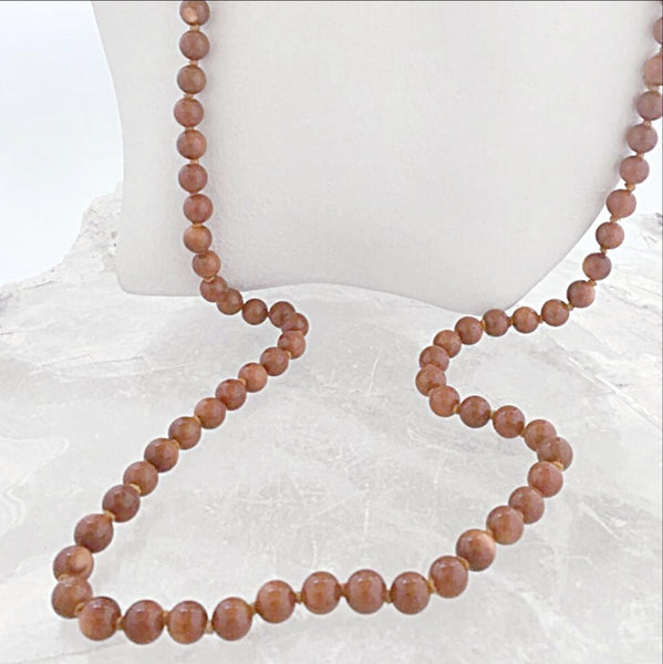 Goldstone Hand Knotted Gemstone Necklace - New Earth Gifts