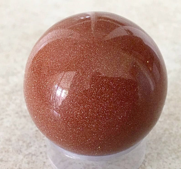 Goldstone Sphere 40mm - New Earth Gifts