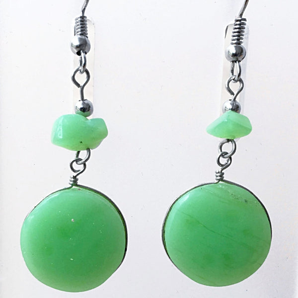 Aventurine Boho Gemstone Earrings -New Earth Gifts